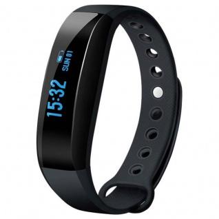 Armband V3 Fitness Sport Health Monitor OLED Smartband Bluetooth V4.0 schwarz