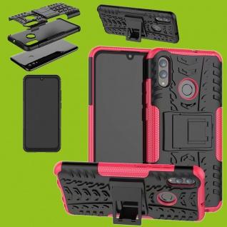 Für Huawei P Smart / Plus 2019 Hybrid 2teilig Outdoor Pink Tasche Hülle Etuis