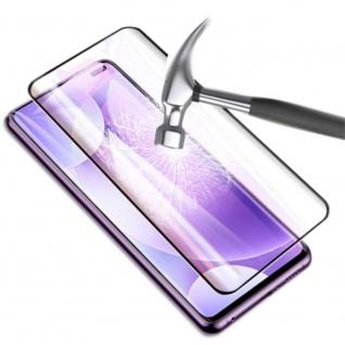 Für Xiaomi Mi 10 / 10 Pro 4D Display Full H9 Hart Glas Schwarz Folie Panzer Case