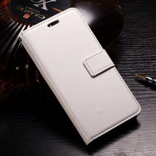 Tasche Wallet Premium Weiß für Huawei Honor 9 Lite Hülle Case Cover Schutz Etui