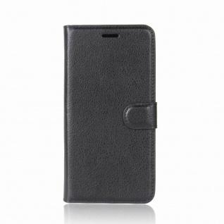 Tasche Wallet Premium Schwarz für HTC U11 Plus Hülle Case Cover Etui Schutz Neu - Vorschau 2