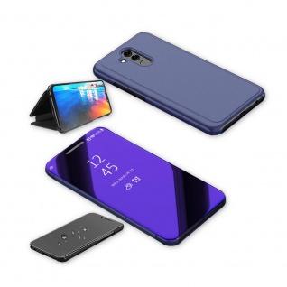 Für Huawei P Smart 2019 Clear View Smart Cover Lila Tasche Hülle Wake UP Etuis - Vorschau 3
