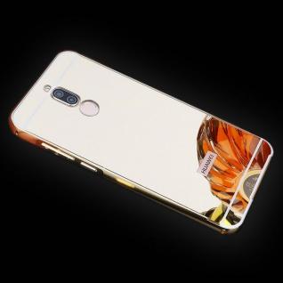 Spiegel / Mirror Alu Bumper 2teilig Gold für Huawei Mate 10 Lite Tasche Hülle