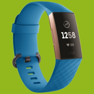 Für Fitbit Charge 3 Kunststoff / Silikon Armband für Männer / Größe L Blau Uhr
