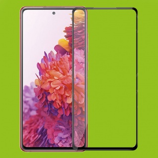 Für Samsung Galaxy S20 FE 2x 3D Display Full H9 Hart Glas Schwarz Folie Panzer