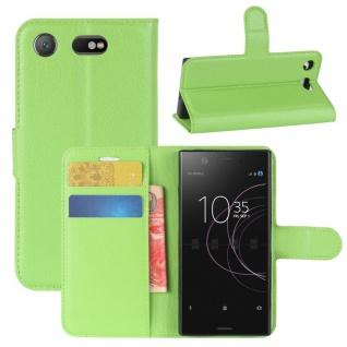 Schutzhülle Grün für Sony Xperia XZ1 Compact / Mini Bookcover Tasche Case Cover