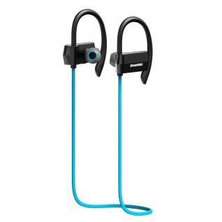 Wireless Bluetooth 4.1 Ohrhörer Kopfhörer In-Ear Sport Headset Nackenband Blau