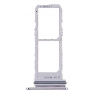 Dual Sim Karten Halter für Samsung Galaxy Note 10 Grau Card Tray