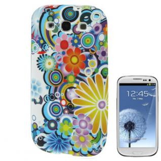 Backcover Motiv 5 für Samsung Galaxy S3 i9300 Zubehör Silikon Schutz + Folie Neu