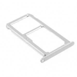 Für Huawei P10 Lite Sim Karten Halter Tray Sim Schlitten Holder Weiß Silber Neu