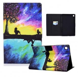 Für Lenovo Tab M10 Plus 10.3 Zoll X606F Motiv 9 Tablet Tasche Kunst Leder Etuis