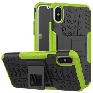 New Hybrid 2teilig Outdoor Grün für Apple iPhone X / XS 5.8 Zoll Tasche Hülle