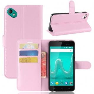 Tasche Wallet Premium Rosa für Wiko Sunny 2 Plus Hülle Case Cover Etui Schutz