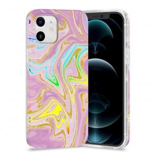 Für Apple iPhone 12 Mini TPU Watercolor Schutz Tasche Hülle Cover Etui Motiv 5