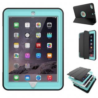 Hybrid Outdoor Schutzhülle Cover Hellblau für Apple iPad Air 2 Tasche Case