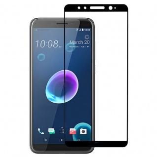 Für HTC Desire 12 3D Premium 0, 3 mm H9 Panzerglas Schwarz Folie Schutz Hülle Neu