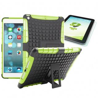 Hybrid Outdoor Schutzhülle Grün für iPad Air 1 Tasche + 0.4 H9 mm Hartglas Neu