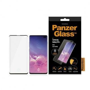 Für Samsung Galaxy S10 Plus Full Curved H9 Hart Glas Schwarz Folie Schutz