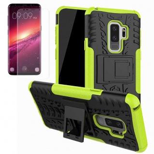 Hybrid Case Tasche 2teilig Grün für Samsung Galaxy S9 Plus G965F + Panzerfolie