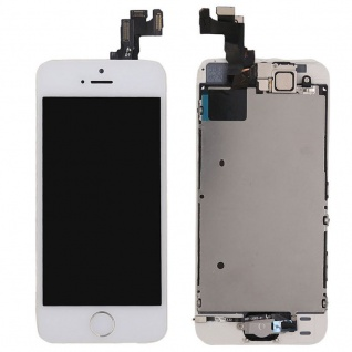 All in One Display LCD Komplett Ersatz Touch kompatibel Apple iPhone 5S Weiß Neu