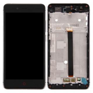 Für ZTE Nubia Z11 mini Display LCD Komplett Einheit + Rahmen Reparatur Schwarz
