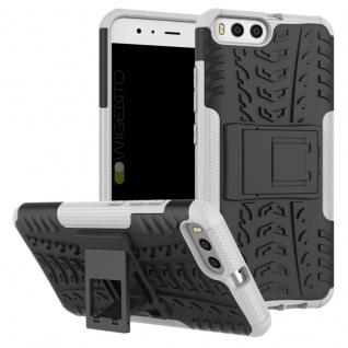 New Hybrid Case 2teilig Outdoor Weiß für Xiaomi Mi6 Tasche Hülle Cover Schutz
