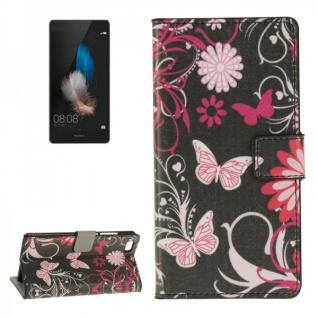 Schutzhülle Muster 4 für Huawei Ascend P8 Lite Bookcover Tasche Hülle Wallet7