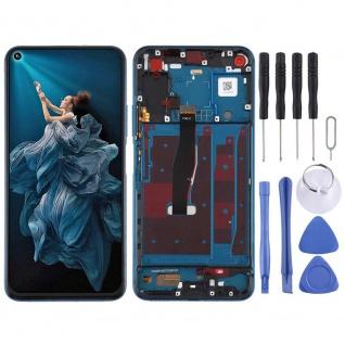Für Huawei Honor 20 Pro Blau Display LCD Einheit Touch mit Rahmen Ersatz Teil
