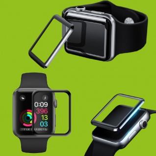 2x 4D 0, 3 mm H9 Full Curved Hart Glas für Apple Watch 4. Gen 44 mm Schutz Folie