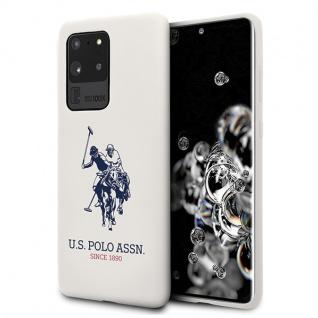 Für Samsung Galaxy S20 Ultra G988 US Polo Silikon TPU Cover Weiß Case Schutz
