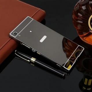 Alu Bumper 2teilig Abdeckung Schwarz für Sony Xperia XA1 G3112 G3121 Tasche Case