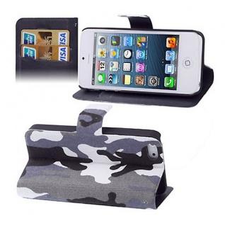 Apple iPhone 5 Hülle Tasche Hülle Hülle Etui Cover Schutzhülle + Folie Design