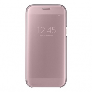 Samsung Clear View Wallet Tasche Kunstleder EF-ZA520 Galaxy A5 A520F 2017 Pink