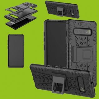 Für Samsung Galaxy S10 Plus G975F 6.4 Hybrid 2teilig Outdoor Schwarz Tasche Etui