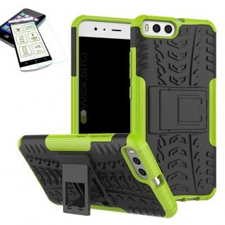 Hybrid Case Tasche Outdoor 2teilig Grün für Xiaomi Mi6 Hülle + Hartglas Etui