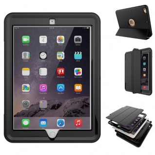 Hybrid Outdoor Schutzhülle Cover Schwarz für New Apple iPad 9.7 2017 Tasche Case