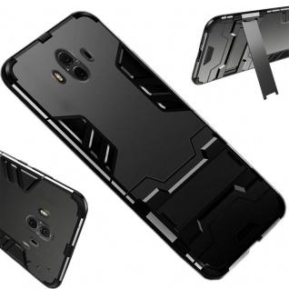 Für Apple iPhone XS MAX 6.5 Zoll Metal Style Outdoor Schwarz Tasche Hülle Cover