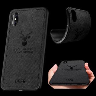 Premium Tasche Silikon Kunstleder Schwarz für Apple iPhone XS MAX 6.5 Hülle Case