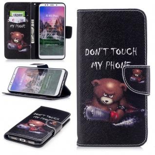Für Huawei Y6 2018 Kunstleder Tasche Book Motiv 30 Schutz Hülle Case Cover Etui