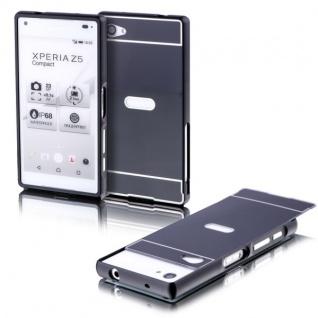 Alu Bumper 2teilig Abdeckung Schwarz für Sony Xperia Z5 Compact 4.6 Tasche Case