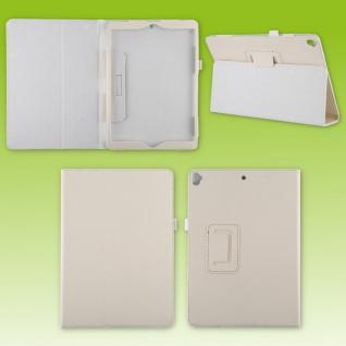 Für Apple iPad 10.2 2019 / 2020 7. / 8. Weiß Kunst-Leder Hülle Cover Tasche Etuis