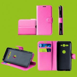 Für Samsung Galaxy S10 Plus G975F 6.4 Tasche Wallet Kunst-Leder Pink Hülle Etuis