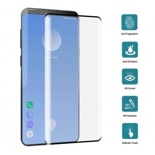 4D Full H9 Curved Hartglas Schwarz Folie für Samsung Galaxy S10 Plus G975F Neu