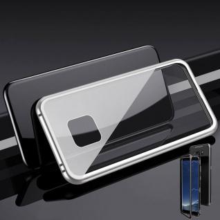 Für Huawei Mate 20 Pro Magnet / Metall Glas Silber / Transparent Tasche Hülle