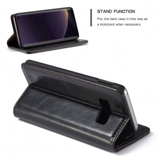 Schutzhülle Handy Tasche für Samsung Galaxy S10 Lite Kartenfächer Wallet Schwarz - Vorschau 3