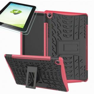 Für Huawei MediaPad M5 10.8 und Pro Hybrid Outdoor Pink Tasche 0.4 H9 Schutzglas