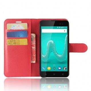 Tasche Wallet Premium Rot für Wiko Sunny 2 Plus Hülle Case Cover Etui Schutz Neu - Vorschau 5