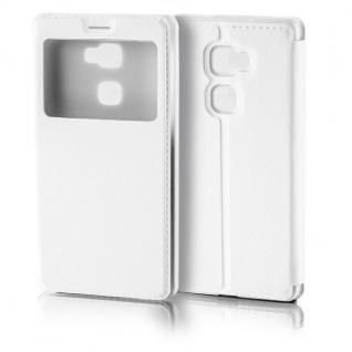 Booktasche Flip Window Weiß für Huawei Mate S 5.5 Zoll Tasche Cover Hülle Case