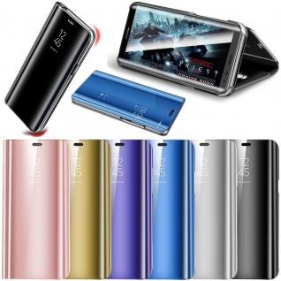 Für Samsung Galaxy A6 Plus A605 2018 Clear View Smart Silber Tasche Wake UP Neu - Vorschau 2