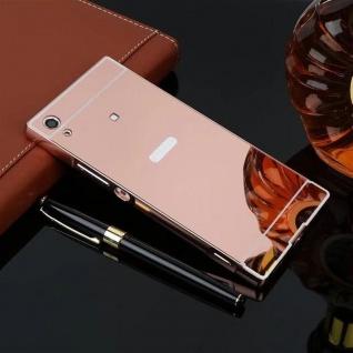 Alu Bumper 2teilig Abdeckung Pink für Sony Xperia XA1 G3112 G3121 Tasche Case